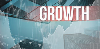 Growth against skyscraper Royalty Free Stock Image