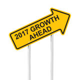 Growth ahead in 2017 royalty free stock photo