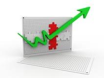 Growth arrow Stock Photography