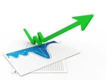 Growth arrow Royalty Free Stock Photos