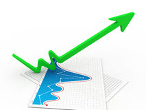 Growth arrow Stock Photo