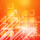 Growth arrows background Stock Image