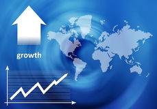 Growth - banking poster Royalty Free Stock Photos