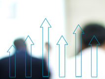 Business growth. Graph royalty free stock photos