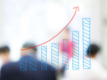 Business growth. Business growing graph stock photos
