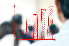 Business growth. Business growing graph royalty free stock photography