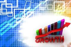 Growth Bar Graph  Illustration Royalty Free Stock Photos