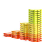 Growth bar graph isolated Stock Photo