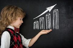 Growth bar graph Stock Image