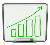 Growth Bars + Arrow Dry Erase Board with Marker Stock Photos