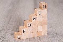 Growth Blocks Arranged As Progressive Graph Stock Photo