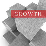 Growth Blocks Means Increase Development And Expansion 3d Rendering. Growth Blocks Showing Growing Develop And Expand 3d Rendering Stock Image
