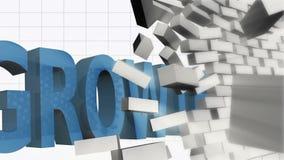 Growth breaking through brick wall royalty free illustration