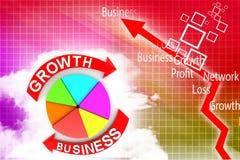 Growth Business  chart illustration Stock Photos