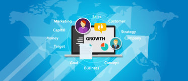 Growth business company marketing sales concept increase arrow Royalty Free Stock Image