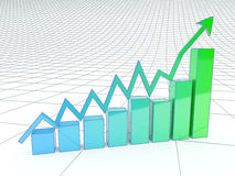 The growth in business and economics. Stock Photo