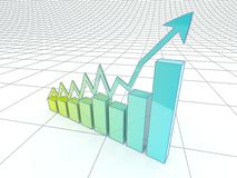The growth in business and economics. Royalty Free Stock Image