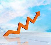 Growth. Business graph chart making money market finance Royalty Free Stock Photos
