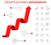 Growth Business Infographic Concept. Stock Photography