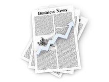 Growth in the Business News. Looking for the latest business news. 3d rendered Illustration Stock Photography