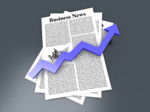 Growth in the Business News Stock Photos