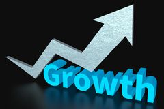 Growth, business, progress, increase, success, improvement Royalty Free Stock Images