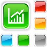 Growth  button. Stock Photos