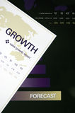 Growth Chart. Image depicting financial growth with data sheets stock photography