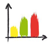 Growth chart Stock Image