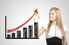 Growth chart going up Stock Photo
