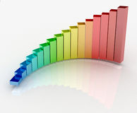 Growth chart. 3d colorful rendering of the growth chart Royalty Free Stock Photos