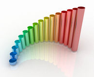Growth chart. 3d colorful rendering of the growth chart Stock Photography