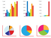 Growth chart. Colorful vector growth chart and acceding arrow Royalty Free Stock Photography