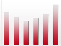 Growth chart. Varying growth bar chart in red Stock Illustration
