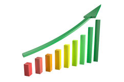 Growth chart with arrow Stock Photography