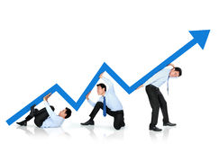 Growth chart concept Royalty Free Stock Photo