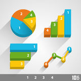 Growth chart 3d Royalty Free Stock Photos