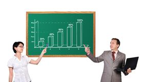 Growth chart on desk Royalty Free Stock Photography