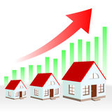 Growth chart estate Royalty Free Stock Photos