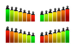 Growth chart, evaluation and innovation Stock Photos