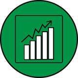 Growth chart. Financial operations Stock Photo
