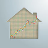 Growth Chart House Hole Real Estate Market Stock Image