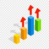 Growth chart isometric icon Royalty Free Stock Photography