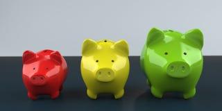 Piggy Bank Growth Chart royalty free stock photos