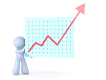 Growth chart presentation Royalty Free Stock Photography