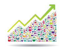 Growth chart. And prgresso leading to success Stock Photo