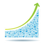 Growth chart Royalty Free Stock Images