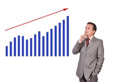 Growth chart profit Royalty Free Stock Images