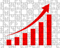 Growth chart from puzzle Stock Photography