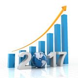 Growth chart 2017 Stock Photography